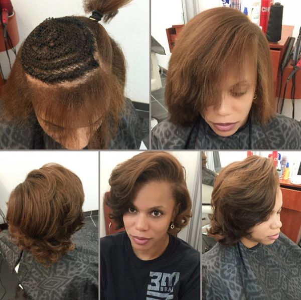 Natural partial sew in by @hairbylatise - Black Hair Information