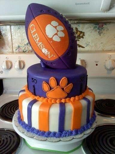 clemson birthday cake