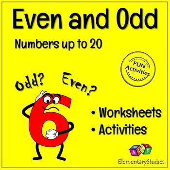 Odd and Even numbers packet includes the no prep worksheets and activities to learn and reinforce the concept of Odd and Even numbers.Here is the list of resources included in this even and odd numbers packet:1. Cut and paste activities.2. Even and Odd coloring activity.3.