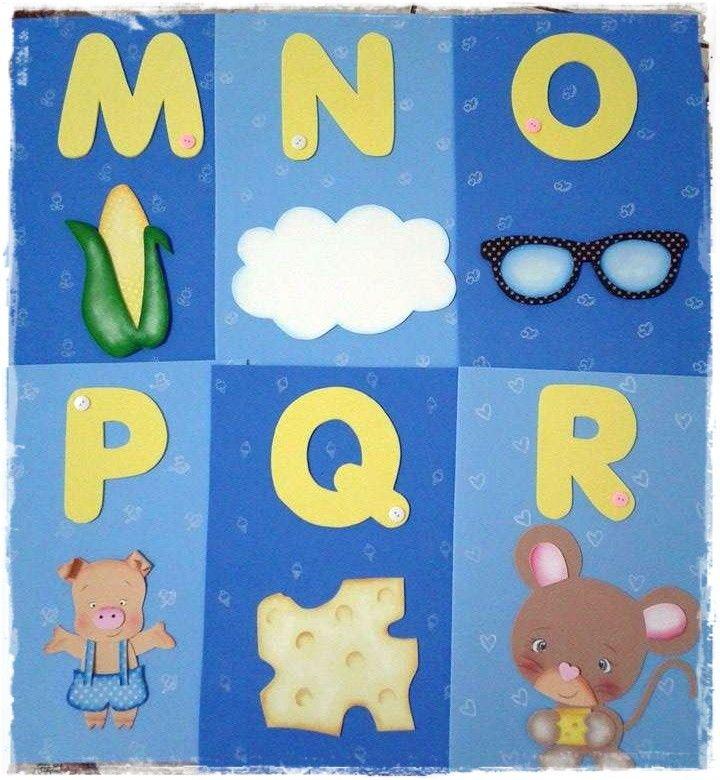 Alfabeto Ilustrado Em Eva Alfabeto Ilustrado Alfabeto