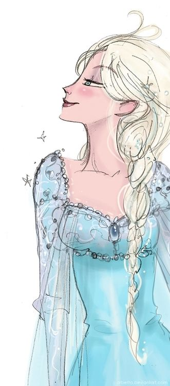 "Disney's Elsa, from ""Frozen"" OMG I want someone to paint me this! ... Or draw"