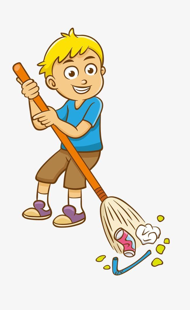 Sweep The Floor Sweep The Floor Kids Vector Recycle Preschool