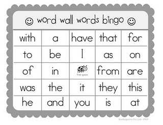 Already made, sight words bingo sheets for printing!  This woman's site, Kindertastic, is full of outstanding files (most of which she made herself).  Bravo!  Thanks for sharing!