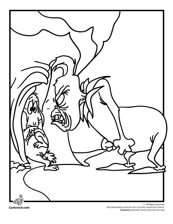 The Grinch Who Stole Christmas Coloring Pages The Grinch and Max Coloring Page – Cartoon Jr.