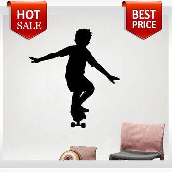 schaatser jongens skateboard kamer muur stickers vinyl stickers home decor woonkamer decoratieve stickers