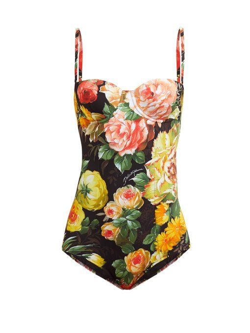 ebc28290348da Dolce & Gabbana Floral-print balconette swimsuit | Dolce in 2019 ...