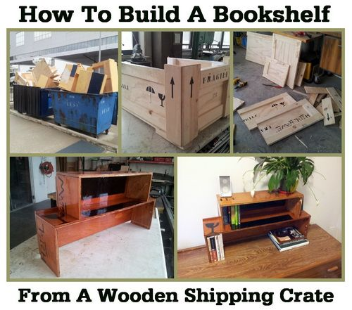 How To Build A Bookshelf From A Wooden Shipping Crate