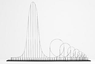 The Euthanasia Coaster is an art concept for a steel roller coaster designed to kill its passengers. Made into a scale model by Julijonas Urbonas. The gravitational force put on the passengers by this ride is 10 Gs, enough to kill a person.The Euthanasia Coaster wouldkill its passengers through prolonged cerebral hypoxia, or insufficient supply of oxygen to the brain. Currently, the Euthanasia Coaster only exists as a scale model, and there aren't any plans yet to begin construction.