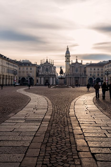 Piazza San Carlo in Turin - Piedmont, Italy