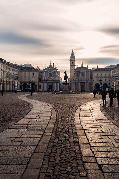 Piazza San Carlo in Turin - Piedmont, Italy