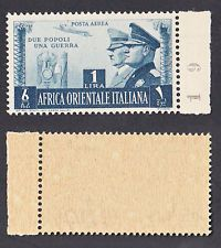 AOI 1941 ITALIAN COLONIES NEW POSTA AEREA AIR MAIL SS. 20 FRATELLANZA  MNH**