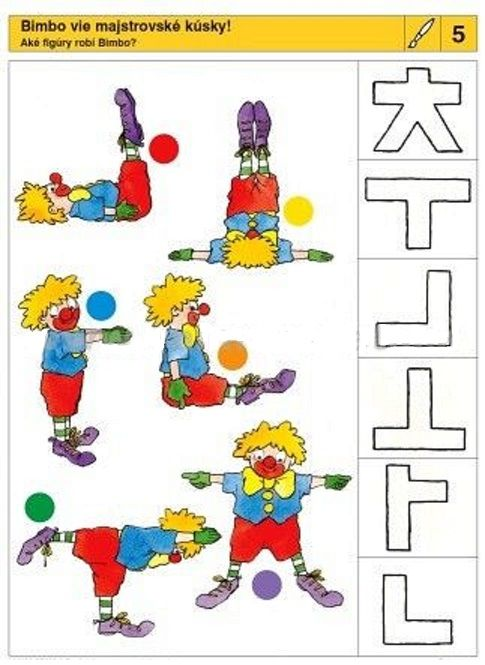 clowns and shapes