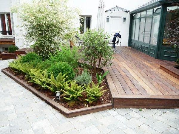Amenagement terrasse jardin deco mur exterieur | Nouvel ...