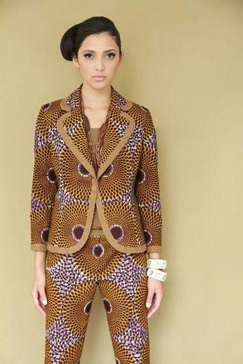 Suit ♥✦⊱✯⊰✦ #nocreditfound   African Fashion   Nsu Bura Pattern
