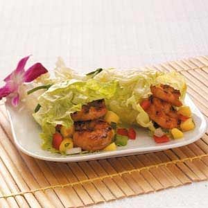 Grilled Shrimp Lettuce Wraps. Just made these for dinner and they were a hit even with the kids!