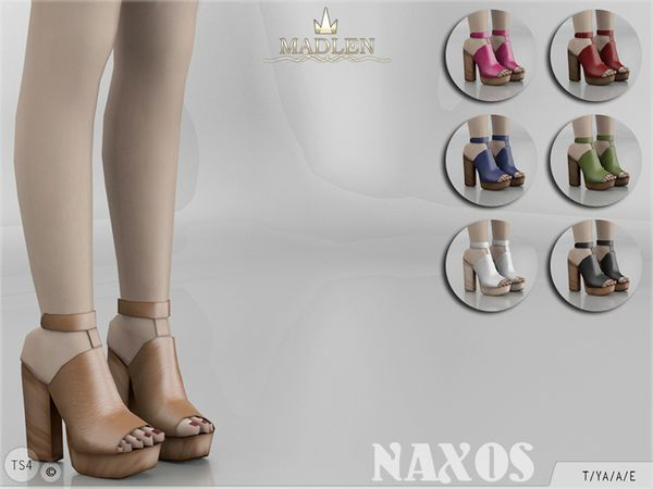 The Sims Resource: Madlen Naxos Shoes by MJ95 • Sims 4 Downloads