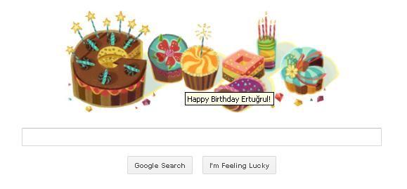 Google Doodle Doğum günü mesajı