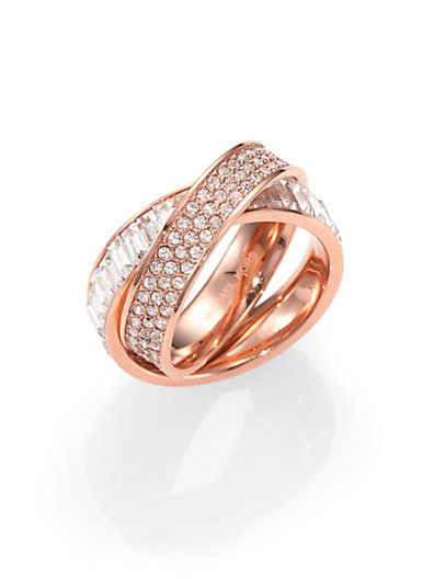 Intertwined rose gold ring - love this!