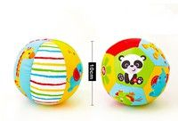 Wish | Infant Baby Toddler Kid Soft Stuffed My First Little Ball Rattle Sports Crib Toy