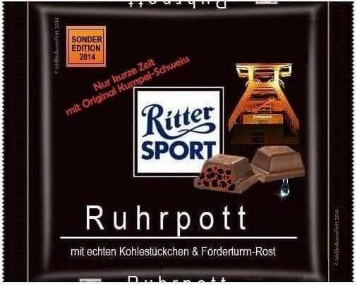 RITTER SPORT Fake Schokolade Ruhrpott