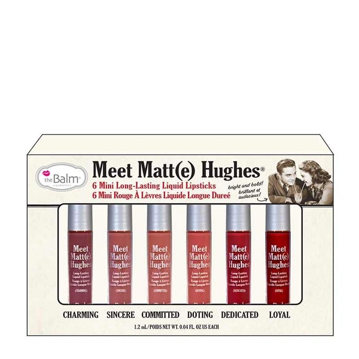 the Balm Meet Matt(e) Hughes Mini Lipstick Set. I got this on Cyber Monday for really cheap. I absolutely LOVE them all. I actually prefer minis to full size, because I never get through a whole size!