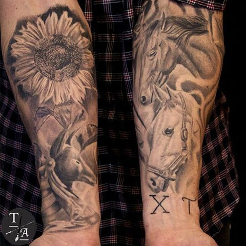 15 must see sunflower tattoo sleeve pins flower sleeve sunflower tattoos and sunflower tattoo. Black Bedroom Furniture Sets. Home Design Ideas