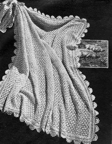 Free Knitting Pattern For A Baby Shawl : 17 Best ideas about Baby Shawl on Pinterest Crocheted ...