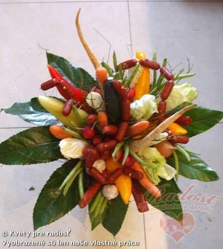 Zeleninová / klobásová kytica