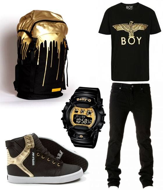 black and gold suggestion for men