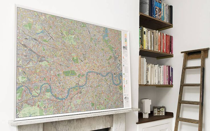 London Cycle Wall Map - magnetic finish - to become our noticeboard on the wall next to the kitchen door - SWOON!