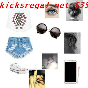 Love love love this, #white #converse are my fav and the high waisted shorts are so cute plus a leather jacket!  #cheap #converse #shoes 55% off        Want #Grils #Converses