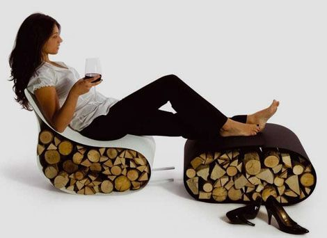 Modern Italian accessory company AK47 has blended fashion and function beautifully in its Flex modern firewood rack chair design. Known for their unique firewood storage solutions, AK47 developed this...