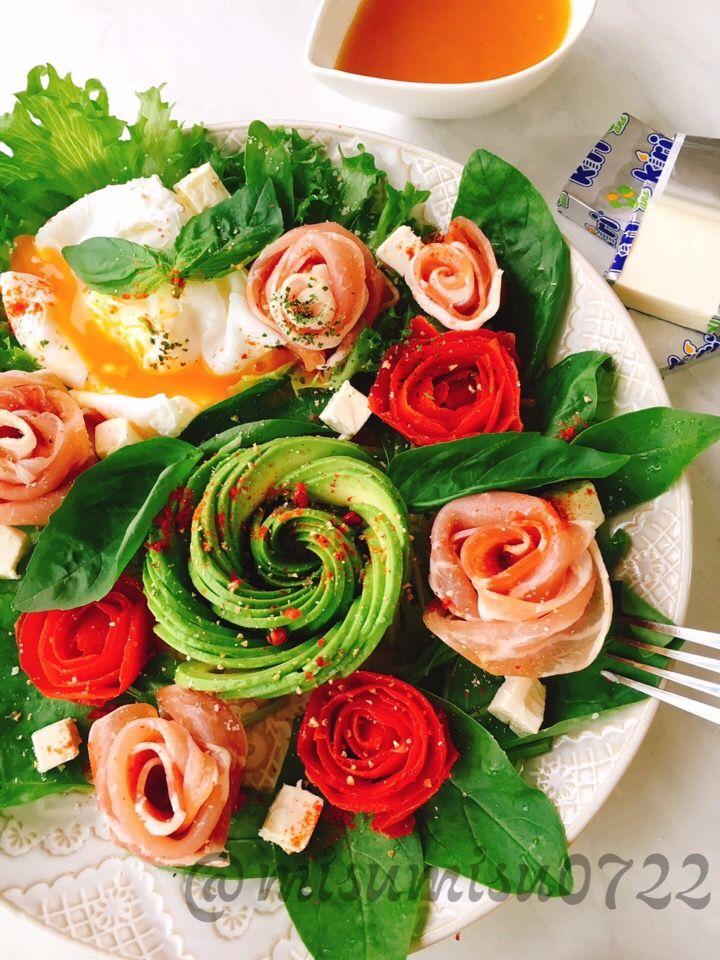 misuzu's dish photo アボカド生ハムトマトのローズサラダ | http://snapdish.co #SnapDish #レシピ #簡単料理 #美容/ダイエット #サラダ #パーティー #母の日