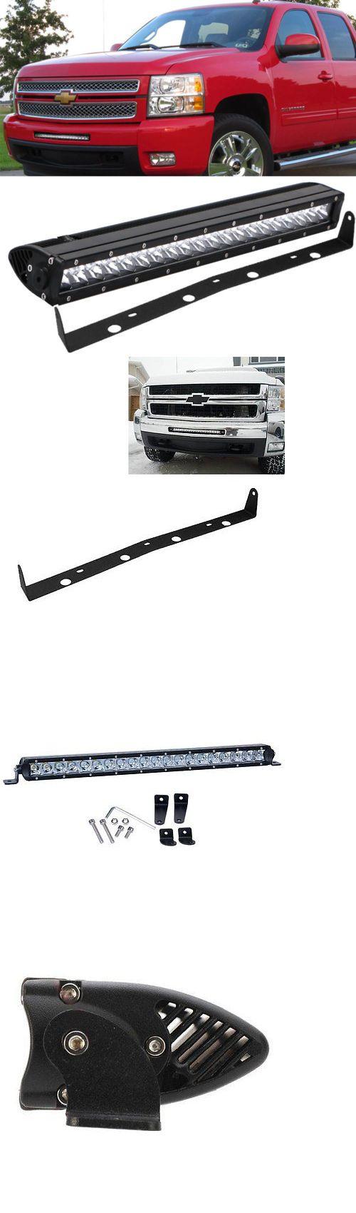 Car Lighting: Front Hidden Light Bar Mounts Bracket+ 20 Inch Led Light Bar Gmc Chevy Silverado -> BUY IT NOW ONLY: $102.98 on eBay!