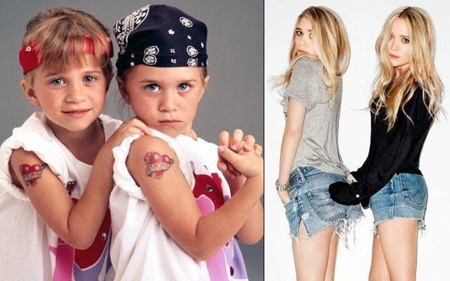 As gêmeas Mary-Kate e Ashley Fuller Olsen iniciaram sua carreira aos 9 meses e ao longo de seus 26 anos, se transformaram em ícones da moda e mulheres atraentes . Foto: Getty Images / AgNews / Tv Globo / Reprodução / Divulgação / SplashNews