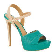 sandalias plataforma color verde turqueza | hashtagiem #Kazar | KAZAR-MOJA INSPIRACJA | Pinterest