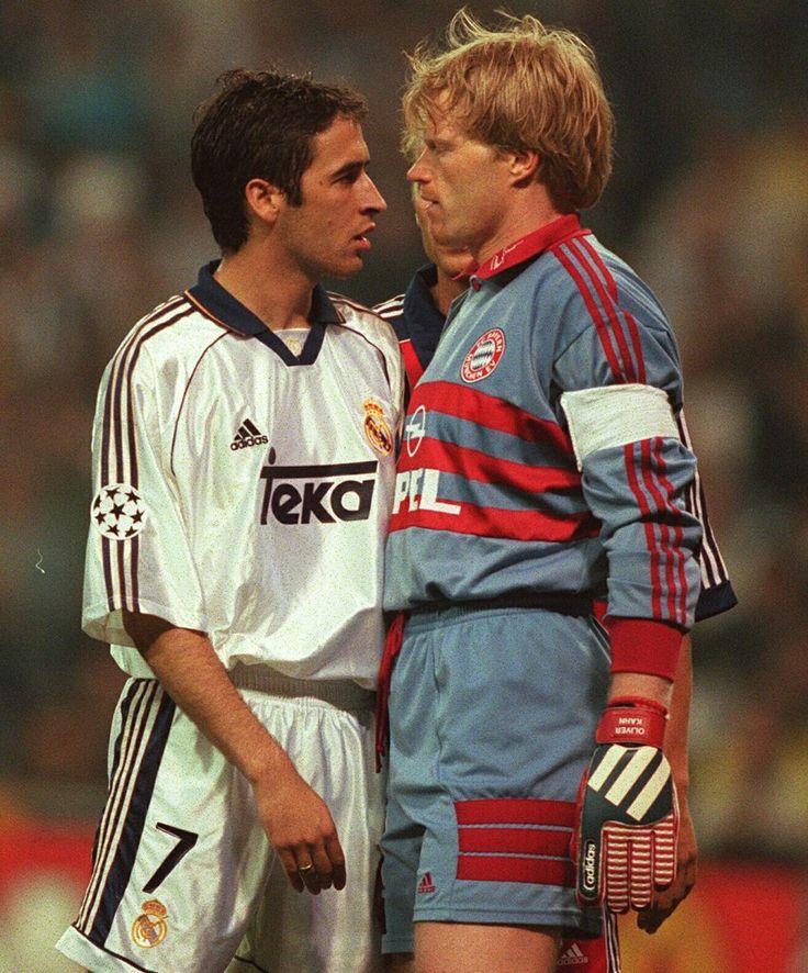 2000, 3 de mayo. Raúl y Oliver Khan se encaran en un partido de semifinales de la copa de Europa Real Madrid 2 - Bayer de Múnich 0