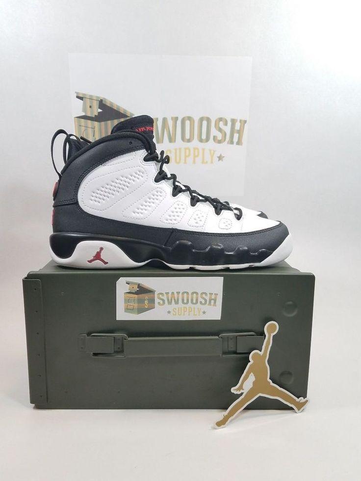 Nike Air Jordan Retro IX 9 OG Space Jam Playoff Black White SZ 5.5Y 302359-112 #Jordan #BasketballShoes