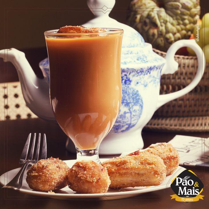 Para o lanche da tarde, que tal saborear os nossos deliciosos mini churros?