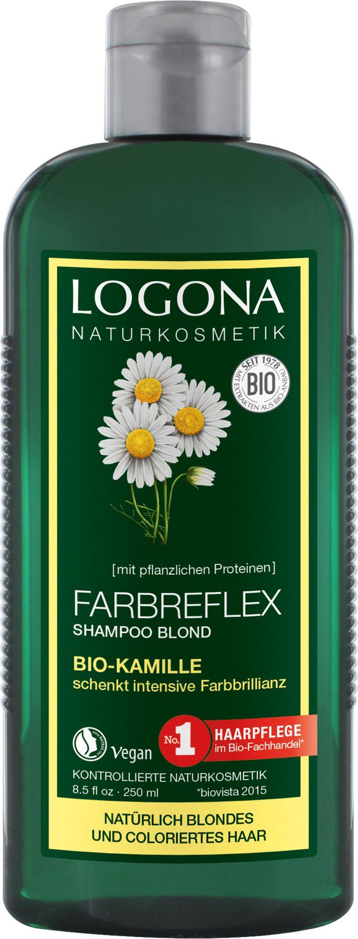 Chamomile Colour Care Shampoo von LOGONA ✔ Farbschutz für natürlich blondes …