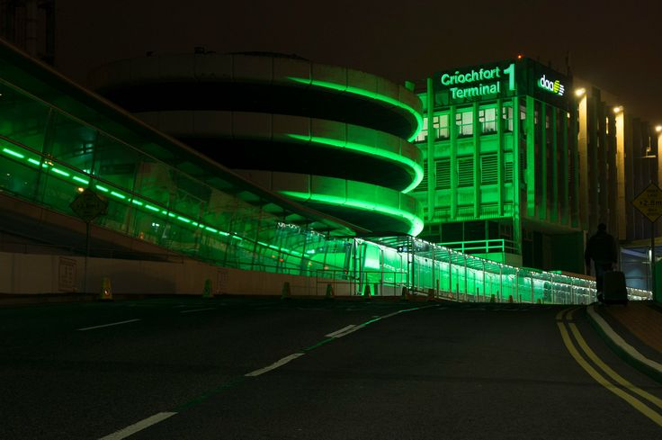 Terminal 1 has gone green for Saint Patrick's Day #GlobalGreening