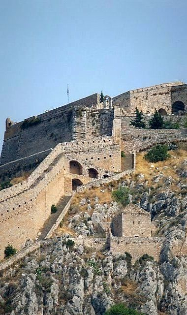 Palamidi Castle in Nafplio, Argolis, Greece