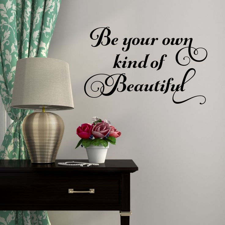 Be Your Own Kind Of Beautiful Wall Decal Bathroom Wall Decal Salon Wall  Decal Bathroom Wall · Geometric WallModern Wall DecalsBathroom ...