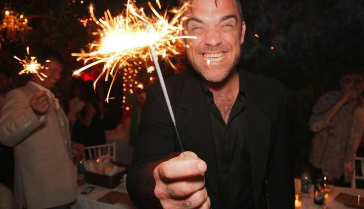 The happiest person alive...Robbie Williams