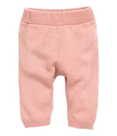 Powder pink. BABY EXCLUSIVE/PREMIUM QUALITY. Fine-knit pants in soft cashmere with an elasticized waistband and rib-knit hems.