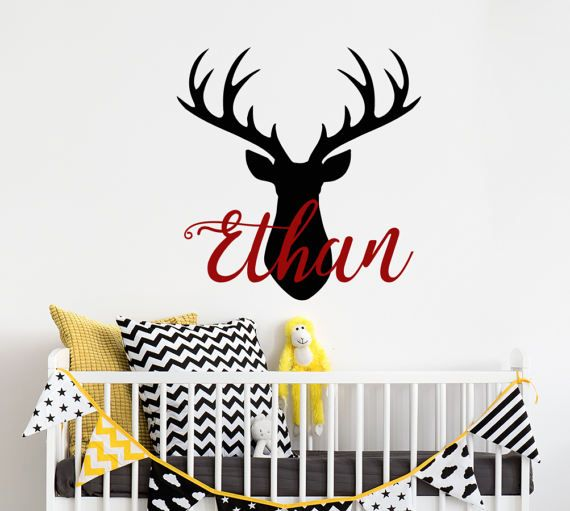 Best Name Wall Decals Images On Pinterest Name Wall Decals - Custom vinyl wall decals deer