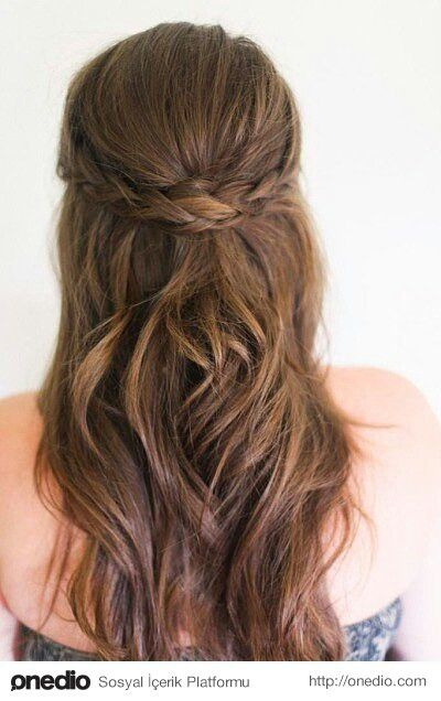 Easy braid hair style