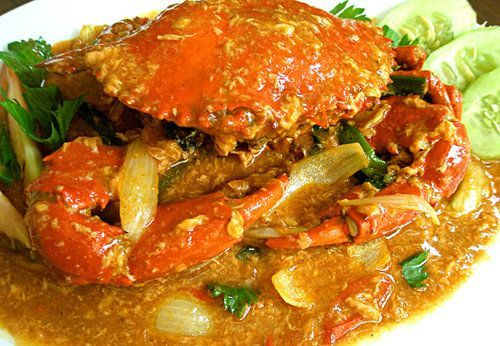 Kepiting saos padang (crab with chili sauce)