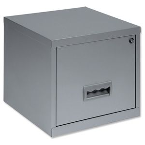 Pierre Henry Filing Cube Cabinet Steel Lockable 1 Drawer A4 W400xd400xh400mm Silver Ref 599000