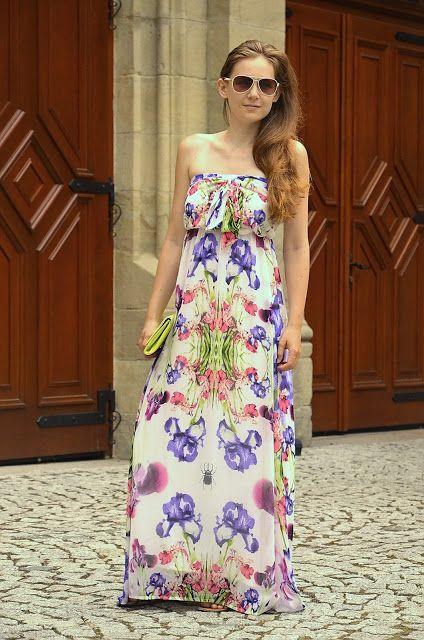 Maxi dress flower